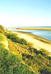 In Cabanas das Meereswasser- Naturschutz-Gebietes der Ria Formosa Richtung Osten