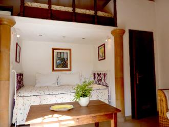 Wohn- und Schlafzimmer im Haus Oliveira