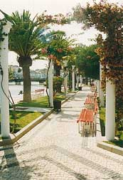 """Der schönste Park Tavira´s erstreckt sich auf der Westseite des Rio Gilao von der alten Römerbrücke bis zur neurestaurierten """"alten Markthalle"""""""